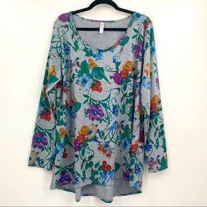 LuLaRoe Lynnae Long Sleeve Top Size 3XL